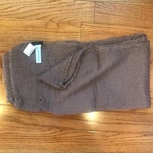 J. Crew Collection Crinkled Long Scarf Purple NEW